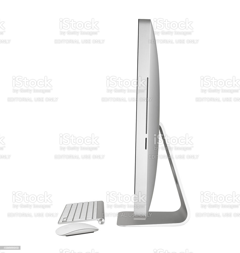 Apple iMac 27 inch Computer royalty-free stock photo