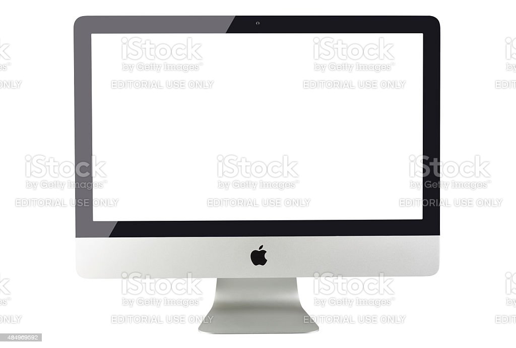 Apple iMac 27 inch desktop computer stock photo