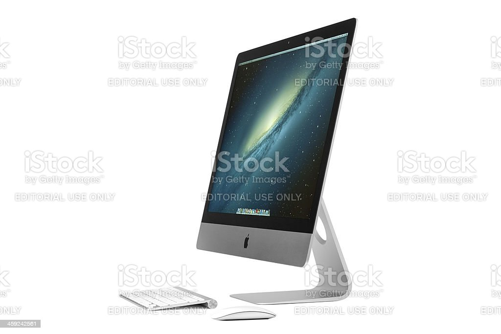 Apple iMac 27 inch stock photo