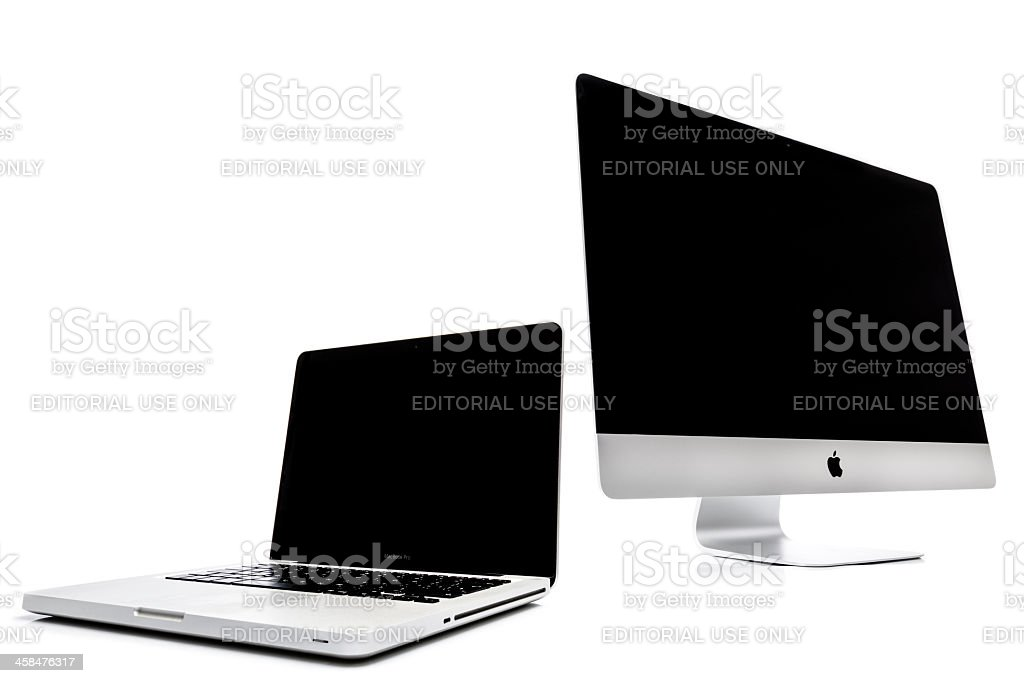 Apple iMac and Macbook Pro stock photo