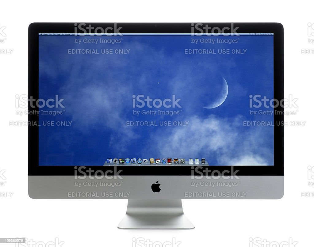 Apple iMac Computer on White royalty-free stock photo