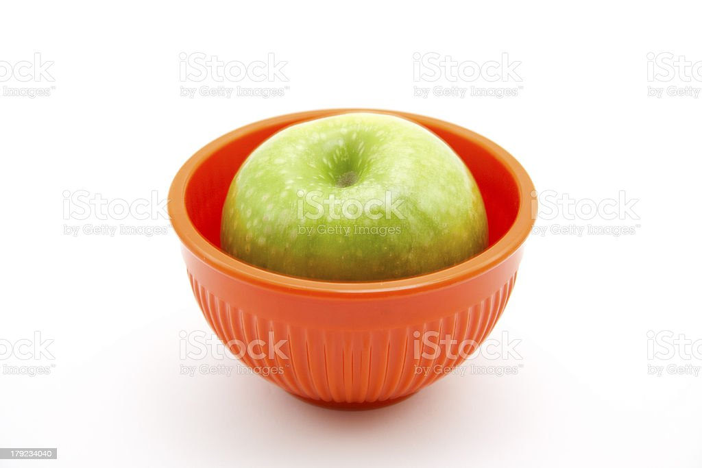 Apple in bowl royalty-free stock photo