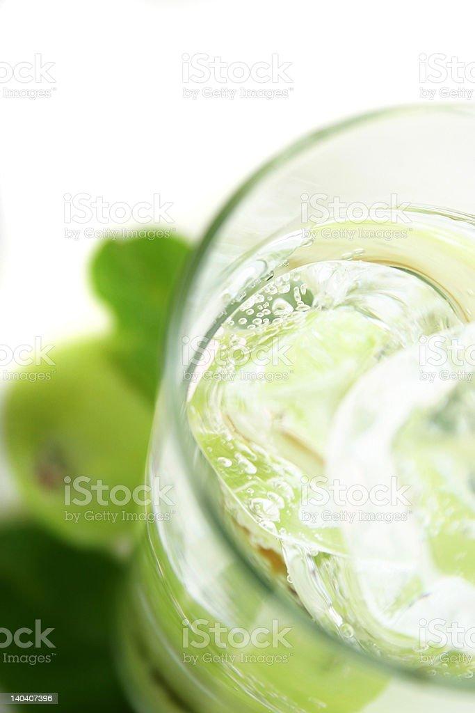Apple in Soda royalty-free stock photo