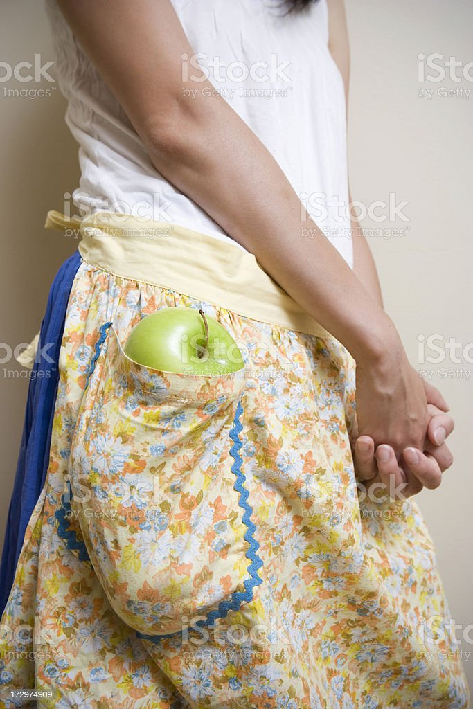 Apple in the pocket royalty-free stock photo