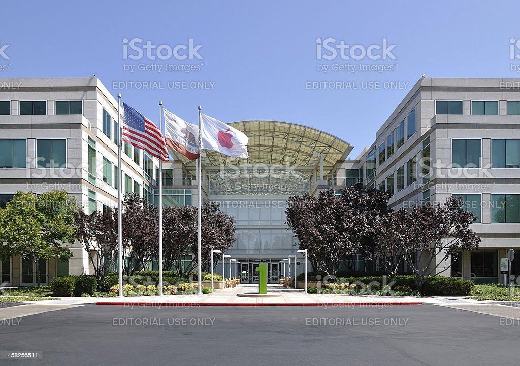 Apple Inc Headquarters royalty-free stock photo