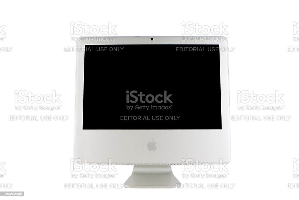 Apple Intel iMac royalty-free stock photo