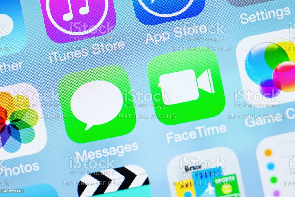 Apple iOS7 Icon - Messages FaceTime royalty-free stock photo