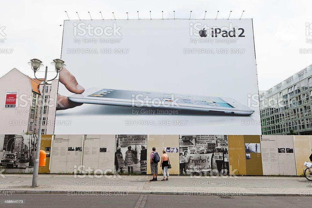Apple iPad 2 large advertisement in Berlin royalty-free stock photo