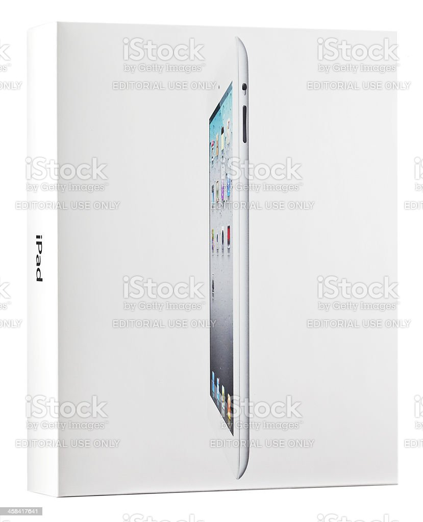 Apple iPad 2 Package stock photo