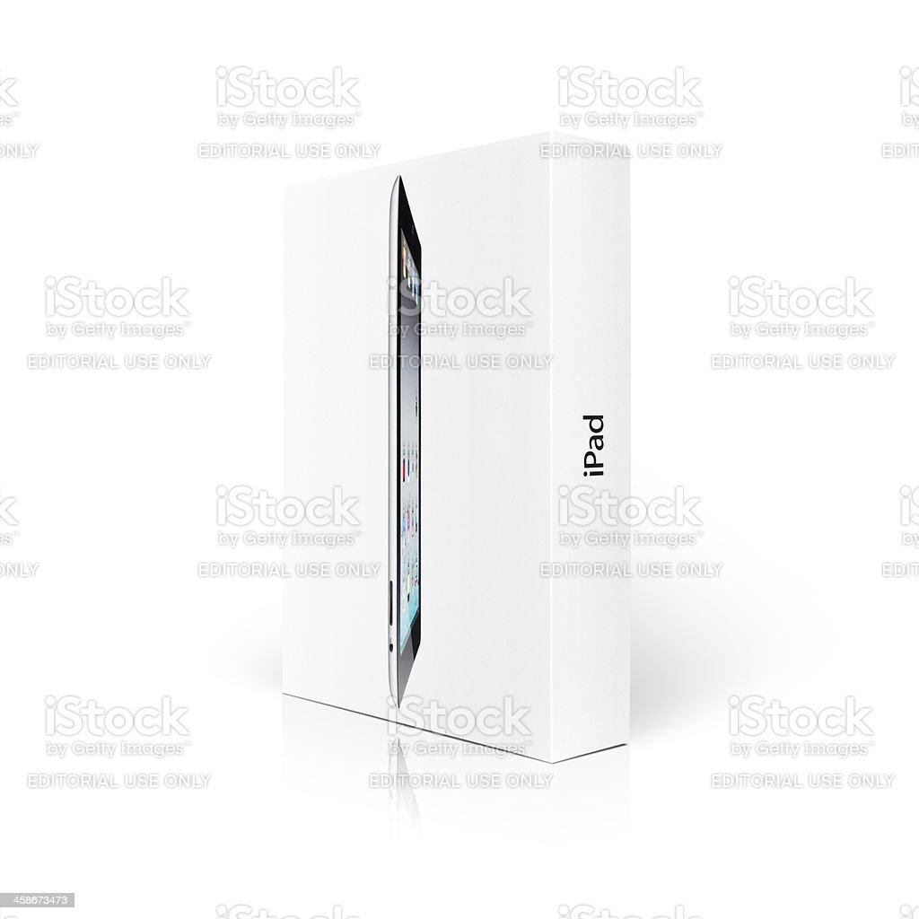 Apple iPad 2 retail box stock photo