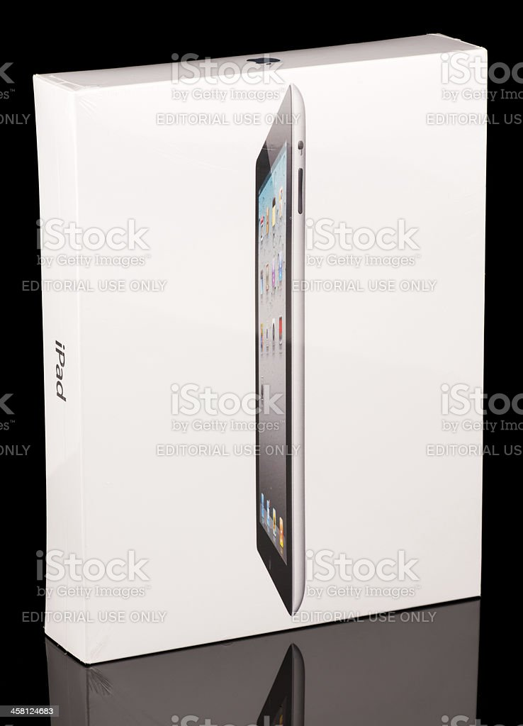 Apple iPad 2 Retail Package Still Shrink Wrapped stock photo