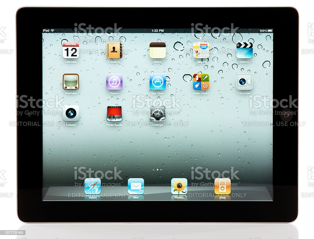 Apple iPad 2 Wi-Fi with Clipping Paths royalty-free stock photo
