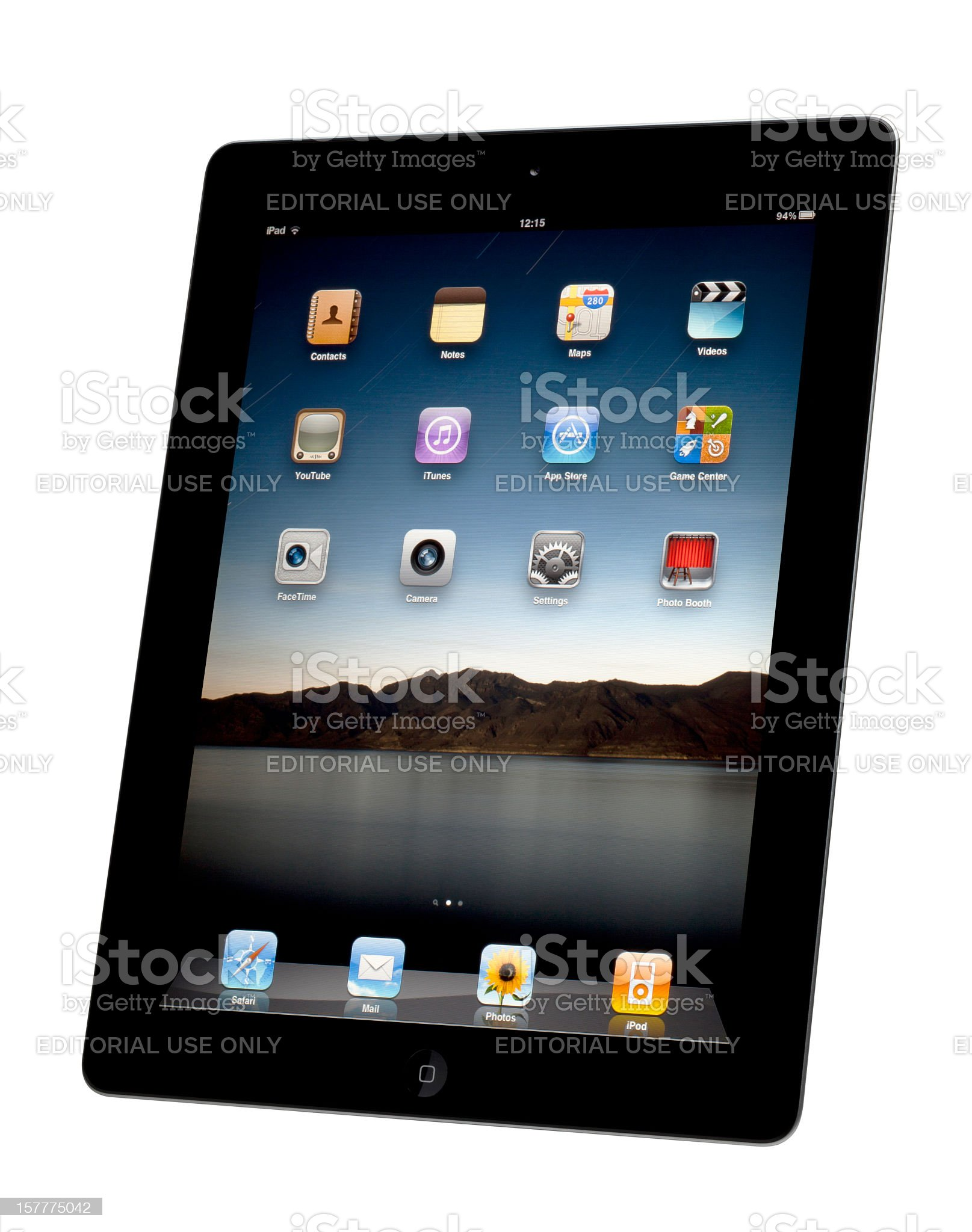 Apple iPad 2 with Clipping Path royalty-free stock photo