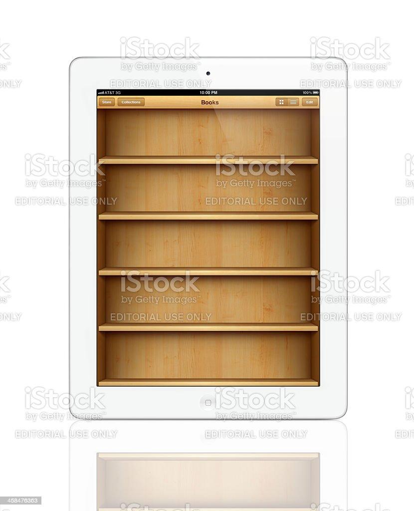 Apple iPad 2 with iBooks screen royalty-free stock photo