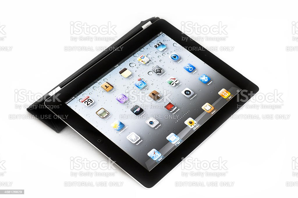 Apple iPad 2 with Smart Cover royalty-free stock photo