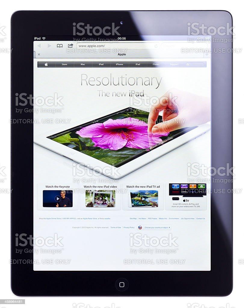 Apple iPad 3 (the new iPad), isolated, clipping path royalty-free stock photo