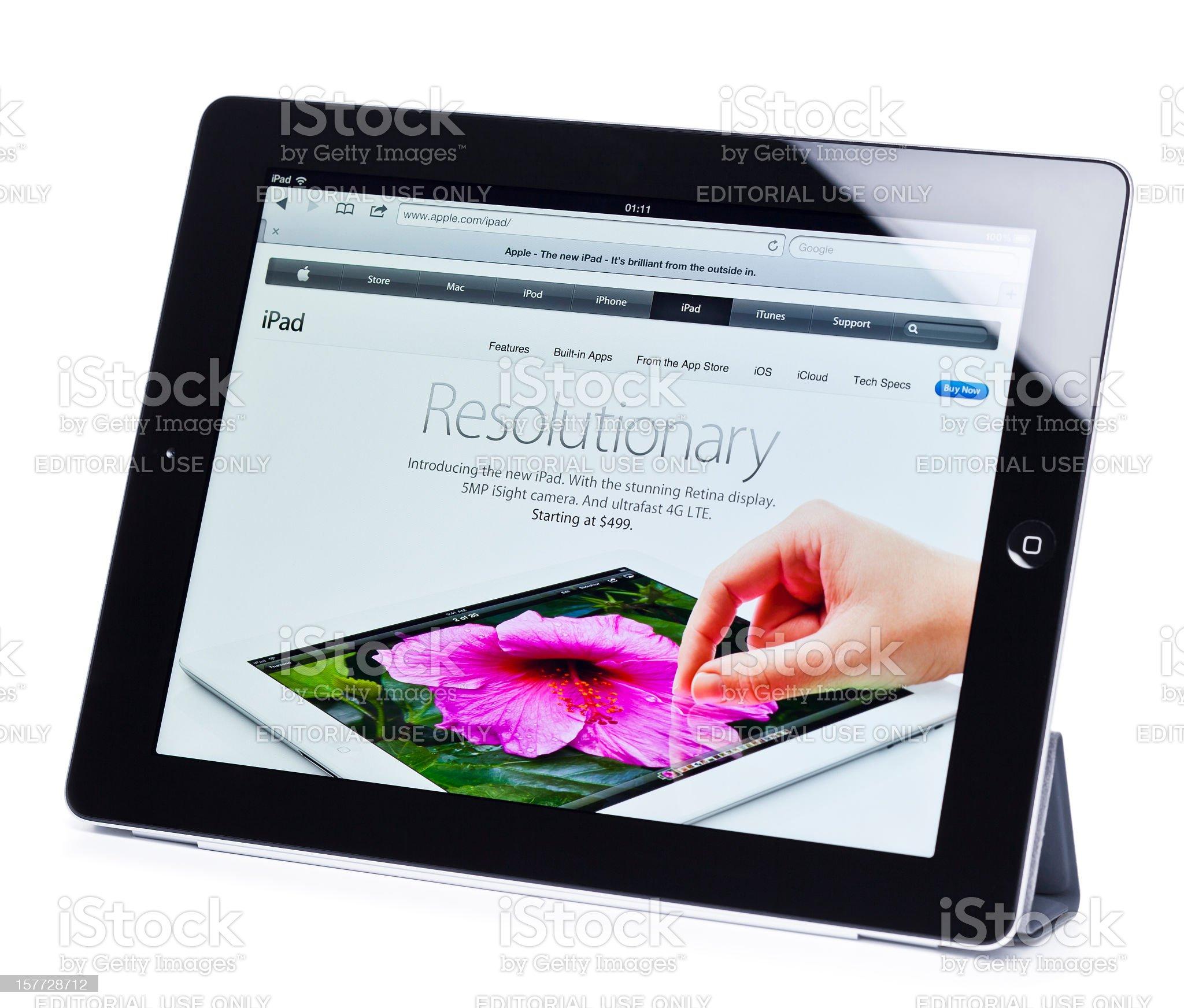 Apple iPad 3, (the new iPad), isolated on white royalty-free stock photo