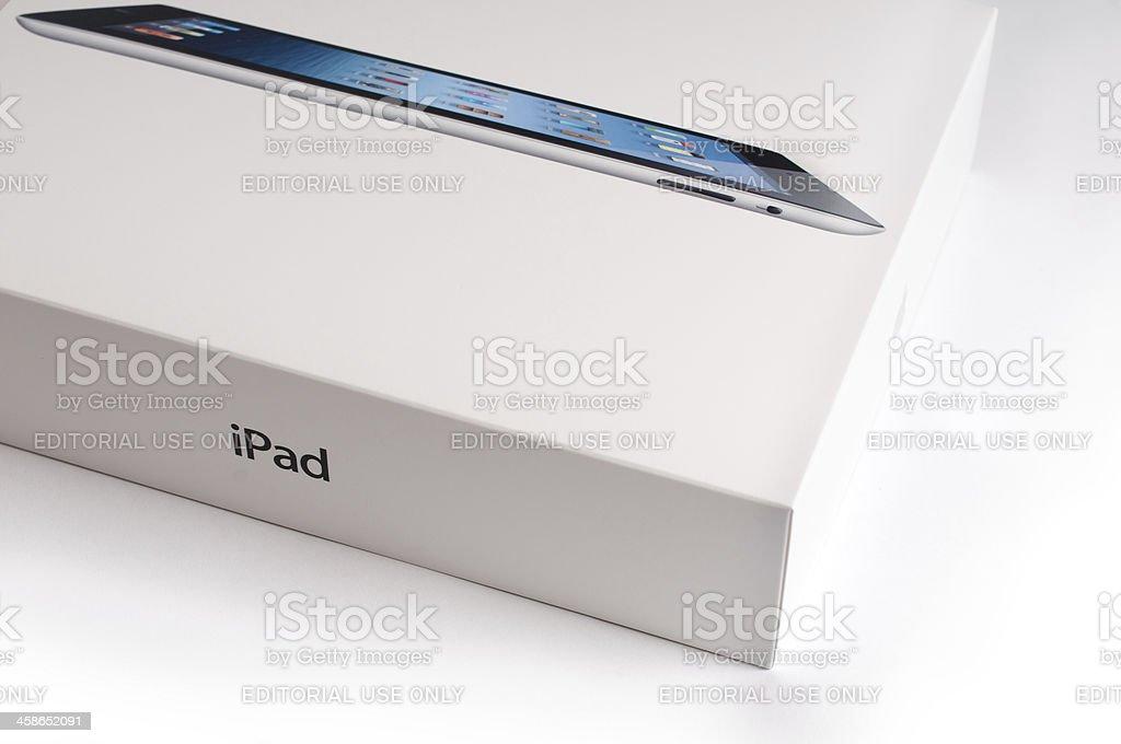 Apple iPad 3 with retail box royalty-free stock photo