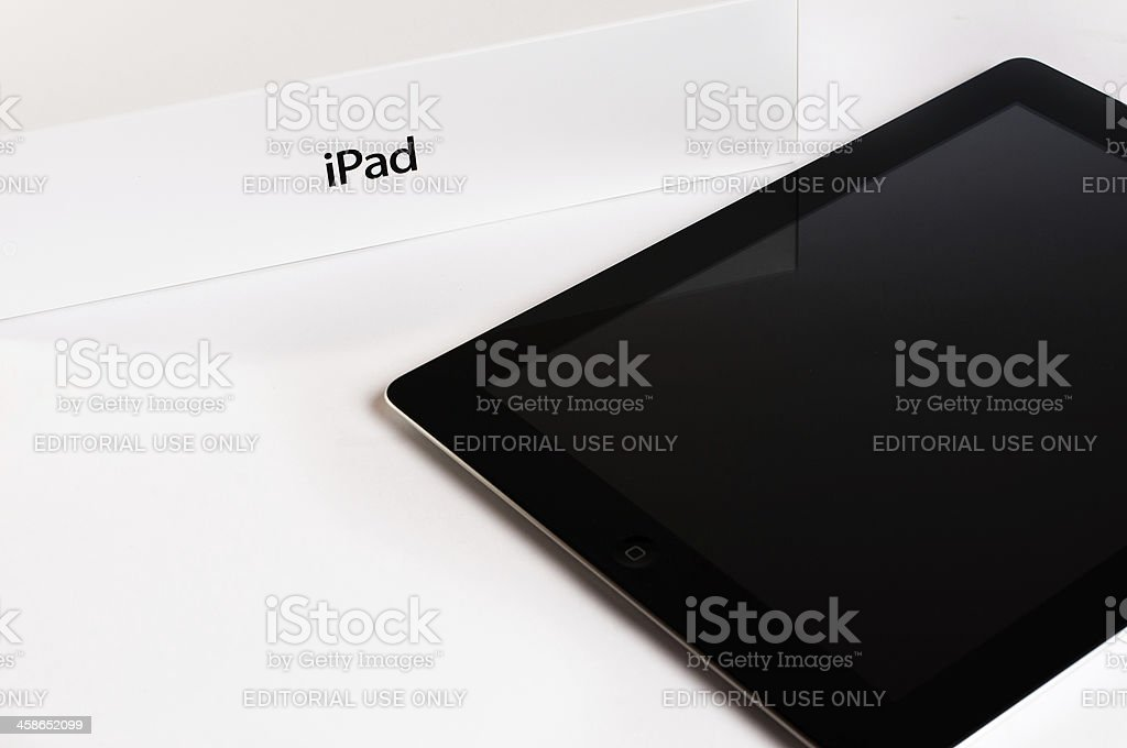 Apple iPad 3 with retail box royalty-free stock photo