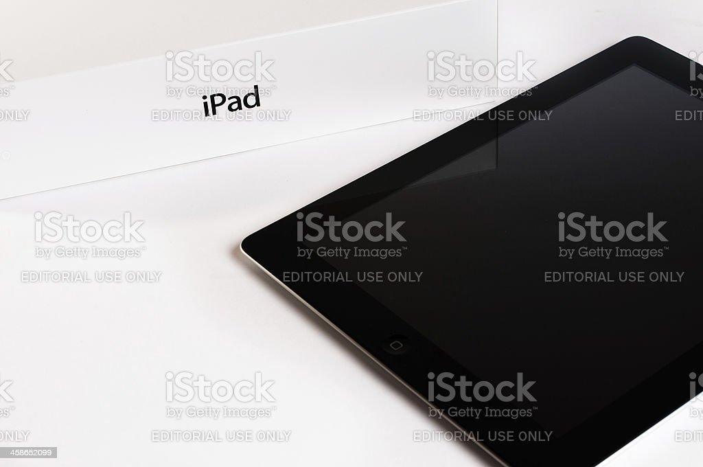 Apple iPad 3 with retail box stock photo