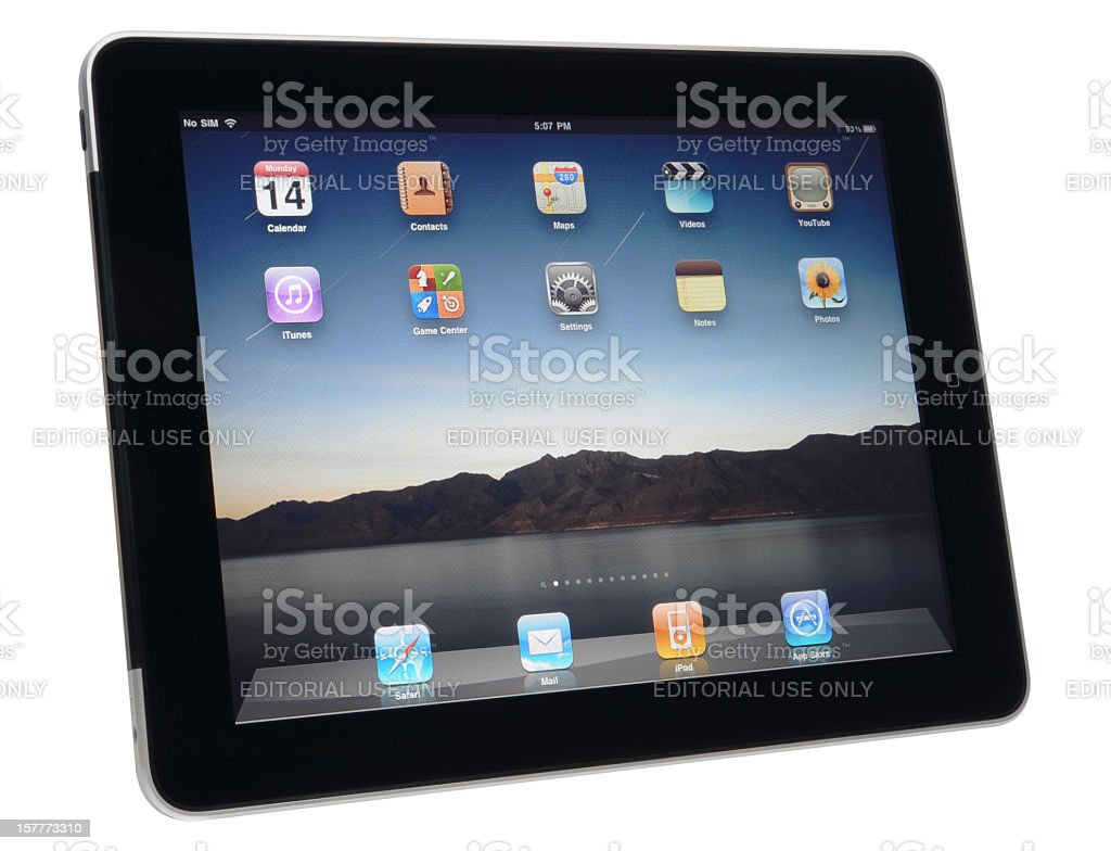 Apple iPad 3G+Wifi with clipping path. royalty-free stock photo