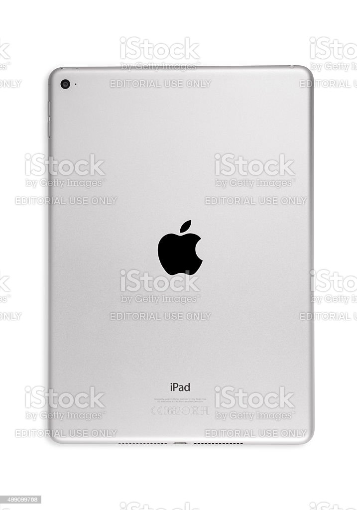 Apple iPad Air 2 Silver stock photo