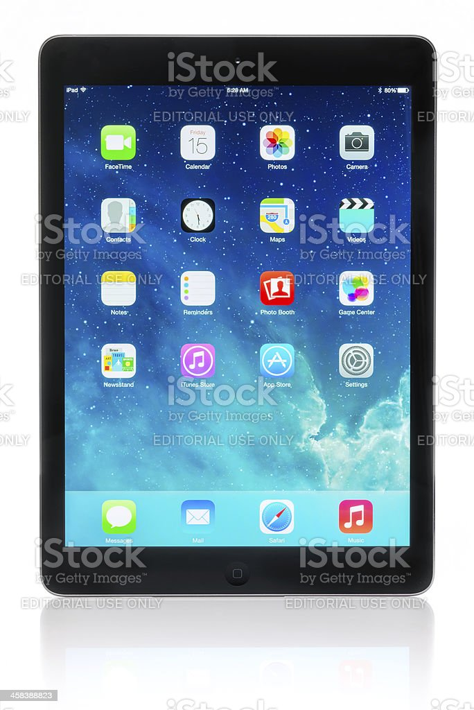 Apple iPad Air royalty-free stock photo
