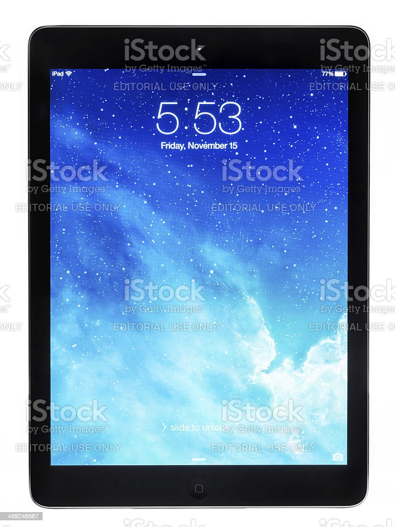 Apple iPad Air royalty-free stock photo