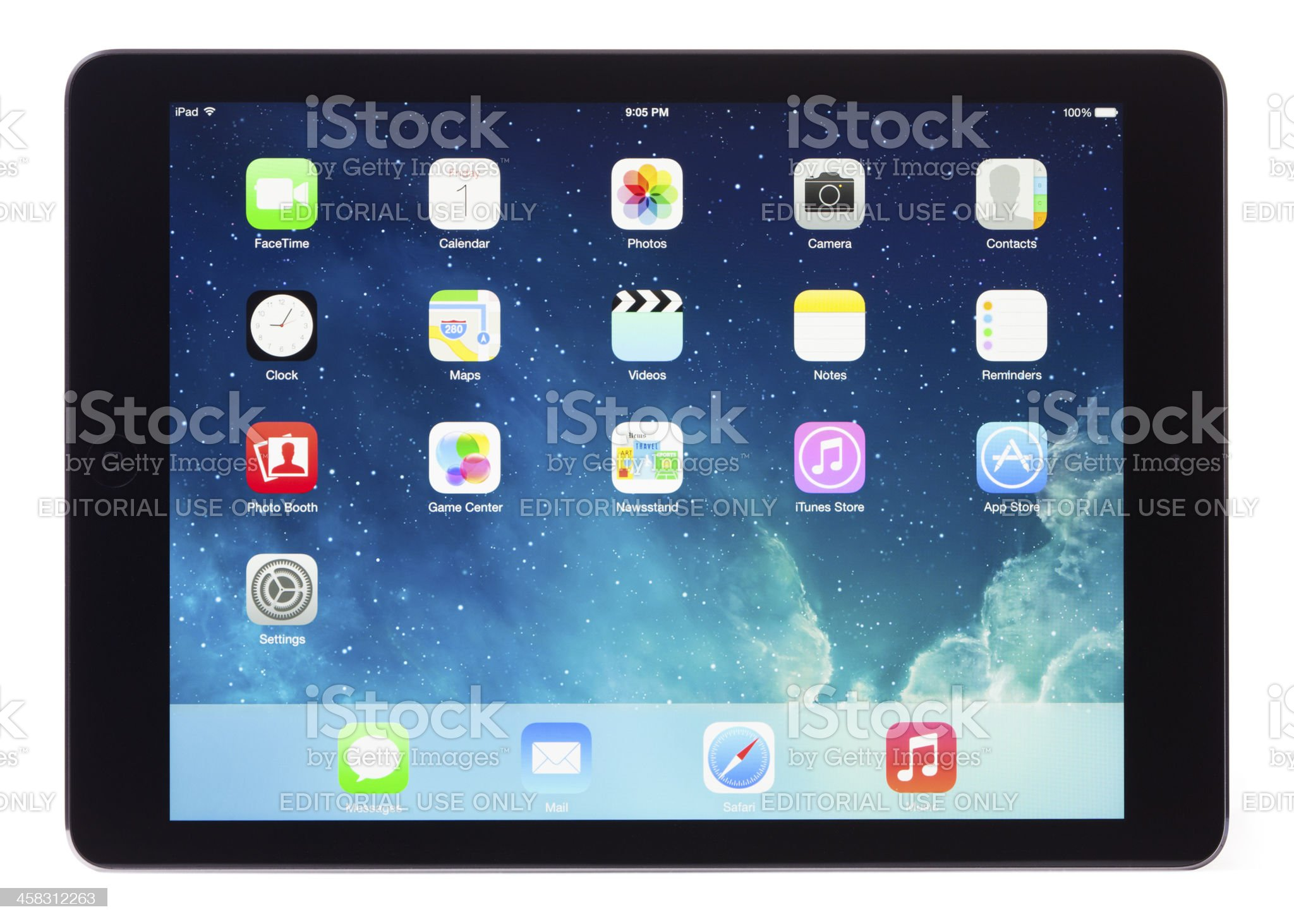 Apple iPad Air Space Gray Black Gen 5 Clipping Paths royalty-free stock photo