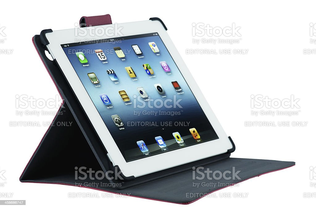 Apple iPad - clipping path for the screen royalty-free stock photo