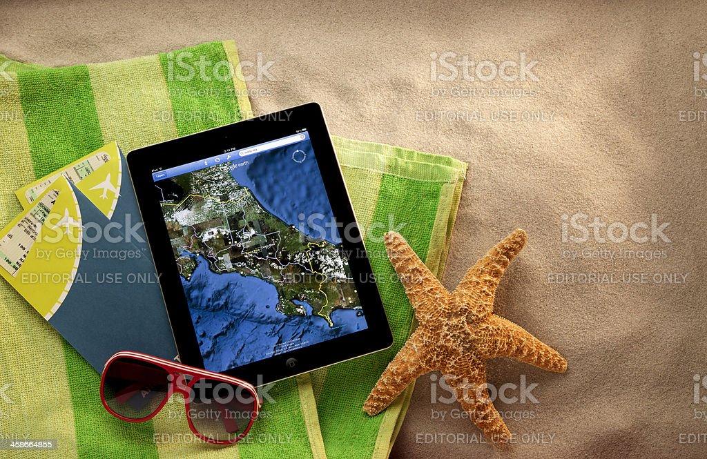 Apple iPad II on the Beach royalty-free stock photo