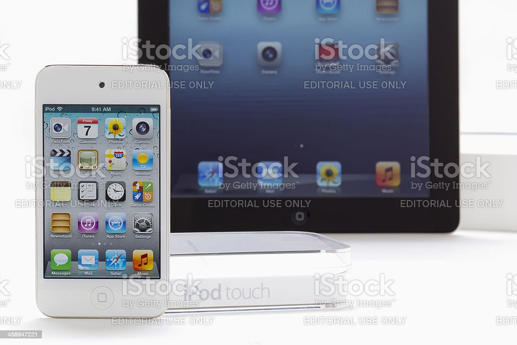 Apple iPad & iPhone royalty-free stock photo