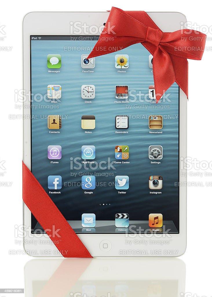 Apple iPad Mini gift royalty-free stock photo