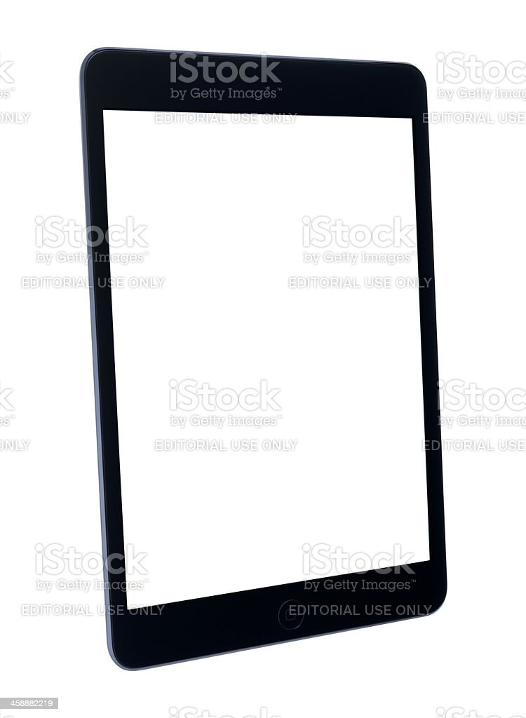 Apple iPad mini with Clipping Path royalty-free stock photo