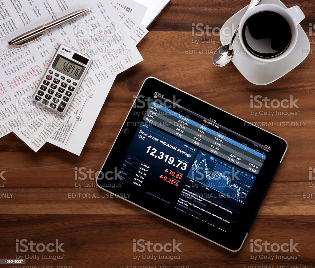 Apple iPad on a Business Desk royalty-free stock photo