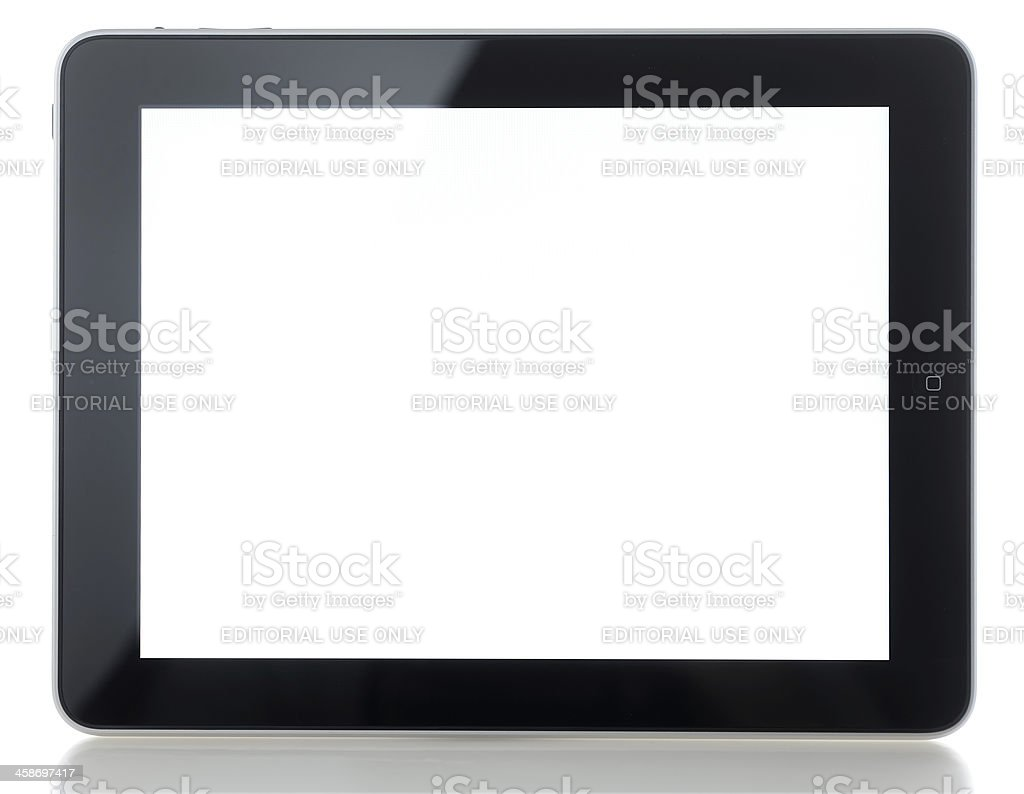 Apple iPad on white background royalty-free stock photo