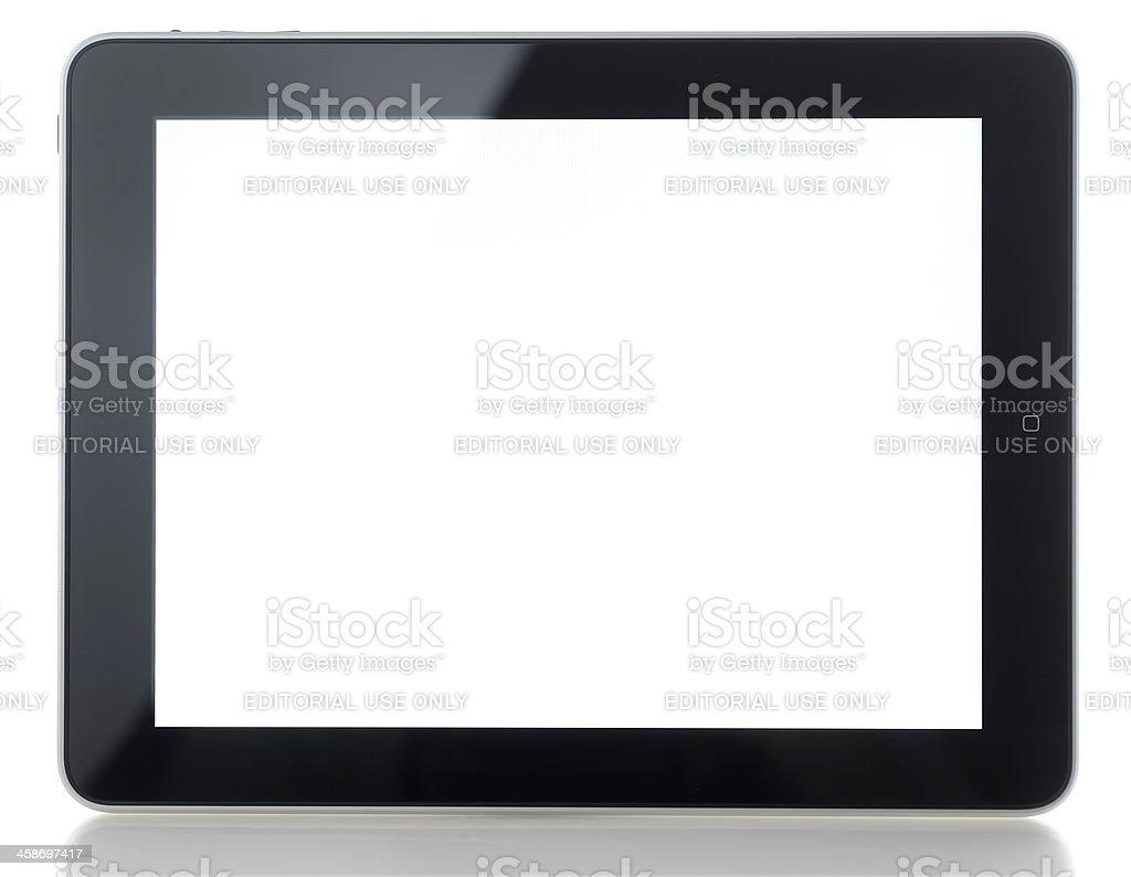 Apple iPad on white background stock photo