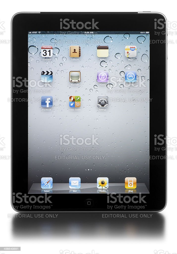 Apple iPad on White royalty-free stock photo