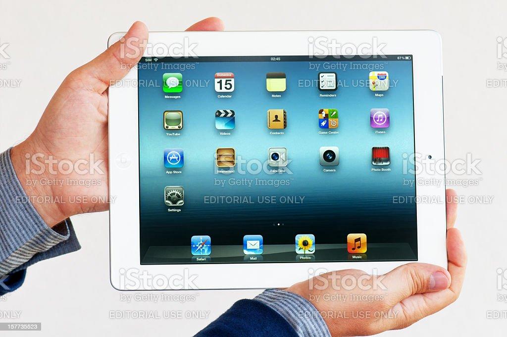 Apple iPad royalty-free stock photo