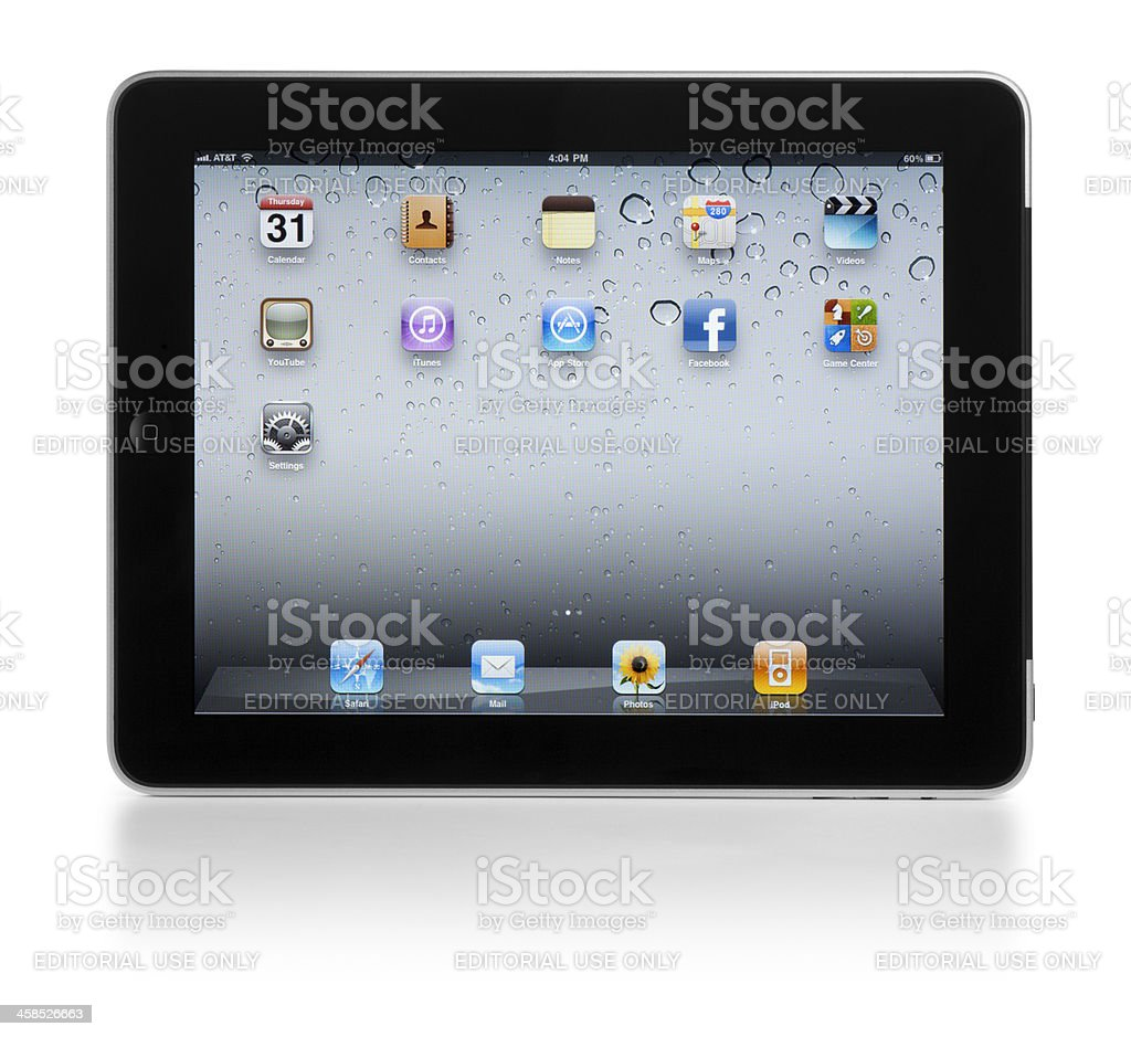 Apple iPad royalty-free stock photo