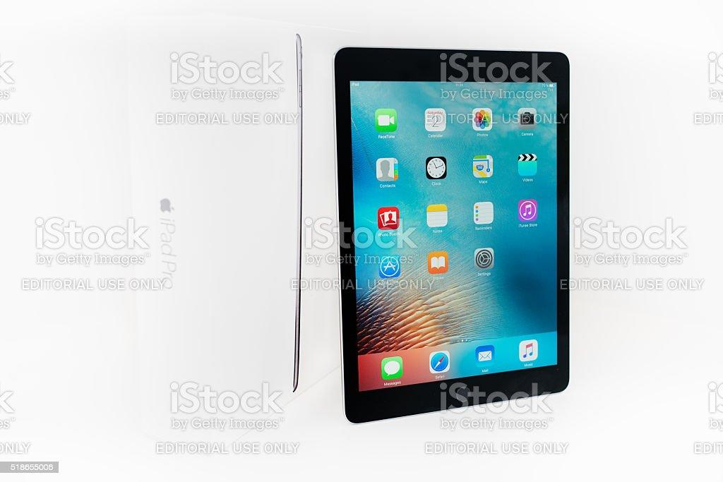 Apple iPad Pro 9.7' Spacegrey with Original Box stock photo