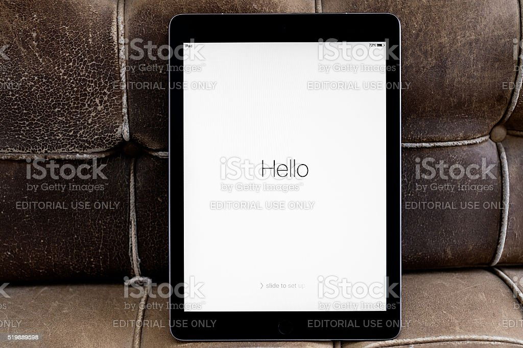 Apple iPad Pro 9.7' WIFI + 4G Spacegrey stock photo
