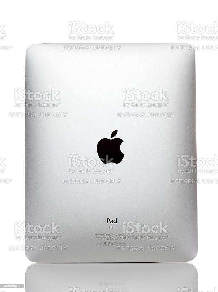 Apple iPad rear view royalty-free stock photo