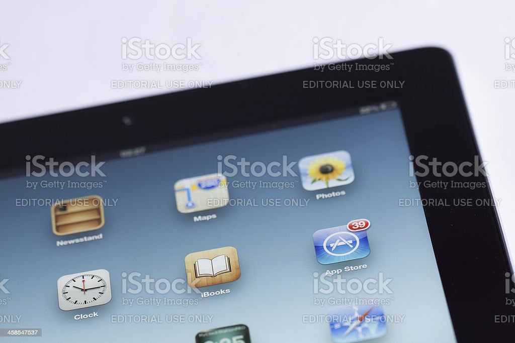 Apple iPad Screen royalty-free stock photo