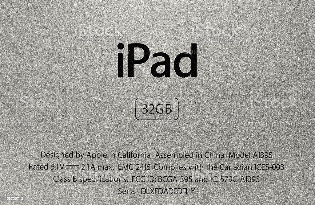 Apple Ipad Sign stock photo