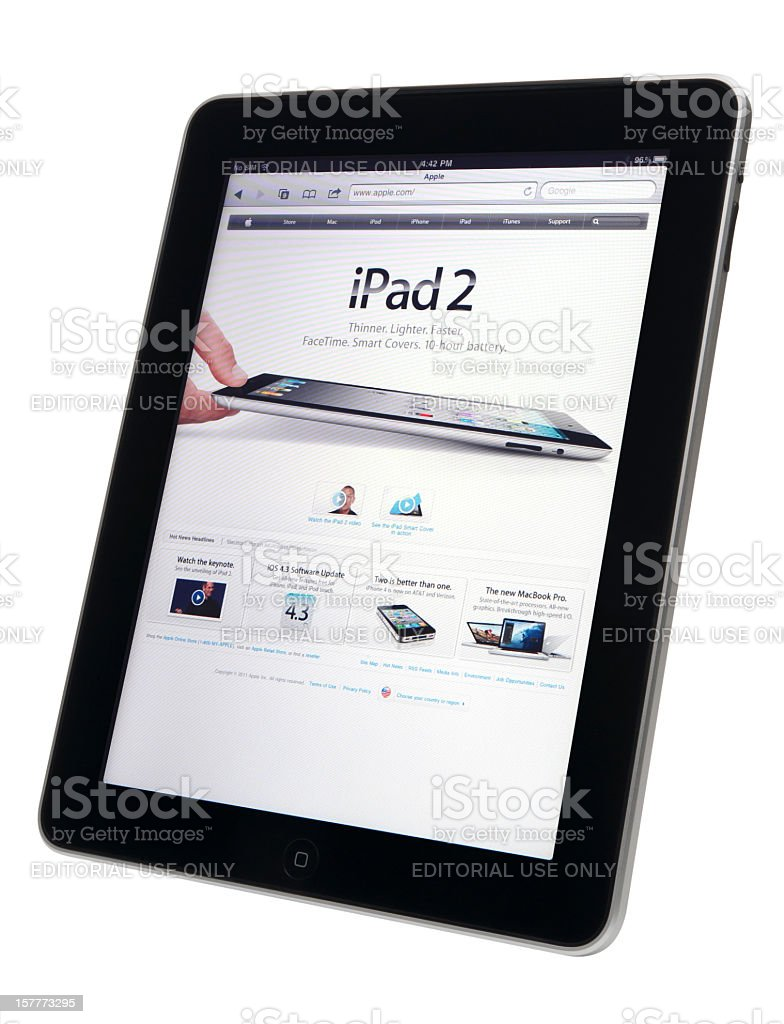 Apple iPad with clipping path. royalty-free stock photo