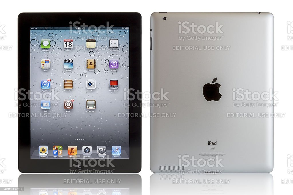Apple iPad with clipping paths royalty-free stock photo