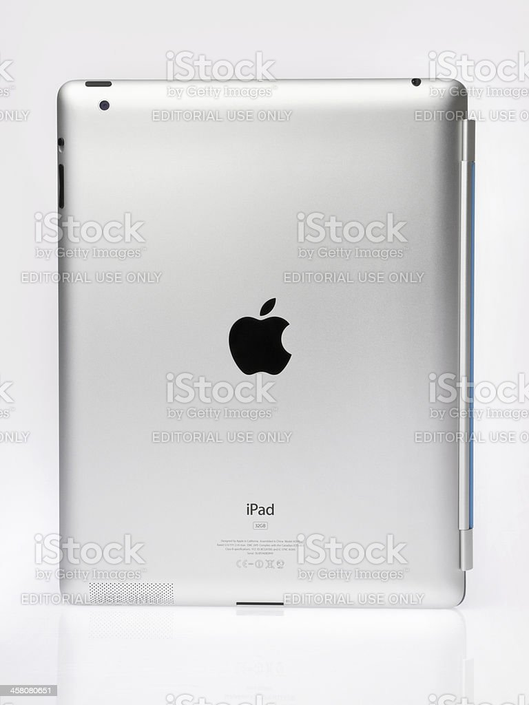Apple Ipad2 Rear View royalty-free stock photo