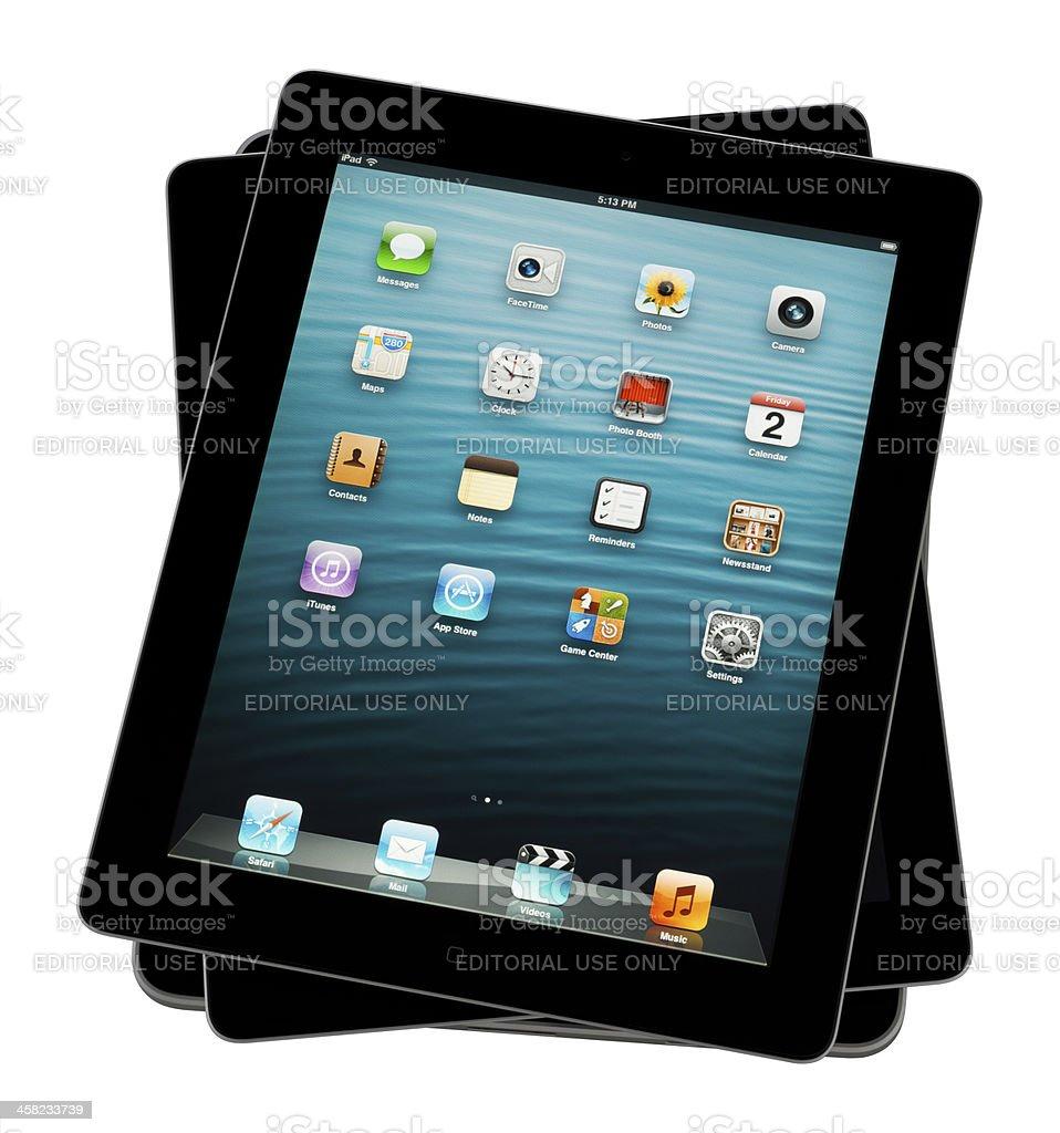 Apple iPads royalty-free stock photo