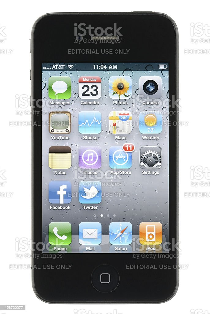 Apple iPhone 4 royalty-free stock photo